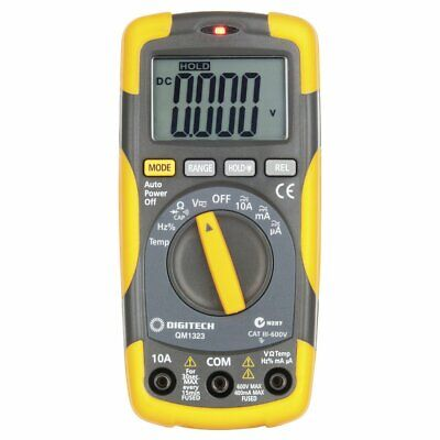 Cat III Multimeter with Temperature Data Hold  600V  Leads included