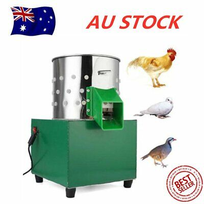 220V Small Poultry Feather Plucking Machine for Chicken Dove Birds Depilator AU