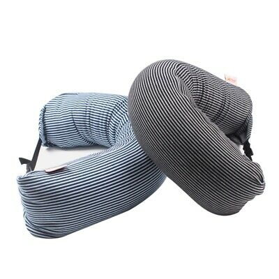 Travel Pillow Foldable U-shaped Neck Support Pillow Head Cushion With Buckle
