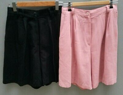 LOT of 2 VINTAGE High-Waisted Shorts Sz 12 M Womens 80s 90s Womens EXC COND