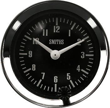 LAND ROVER SERIES 1.2.3 NEW SMITHS TIME CLOCK  52mm DIA Auxiliary Clock