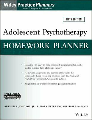 PracticePlanners: Adolescent Psychotherapy Homework Planner by William P....