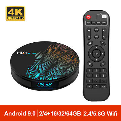 Android 9.0 HK1 MAX Mini Smart Media TV Box 4K HD BT4.0 Quad Core Wifi TV Caja