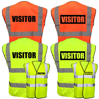 VISITOR Hi-Vis High-Viz Visibility Safety Vest Waistcoat EN471 | Yellow & Orange