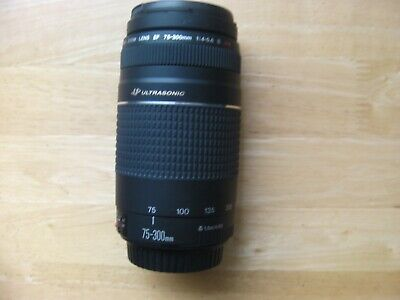 Canon EF 75-300mm F/4.0-5.6 III USM Lens & Lens caps,Excellent Condition, Tested