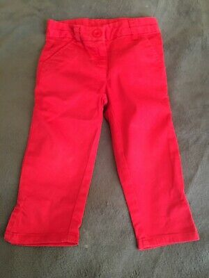 Age 5 girls red Next 3/4 trousers