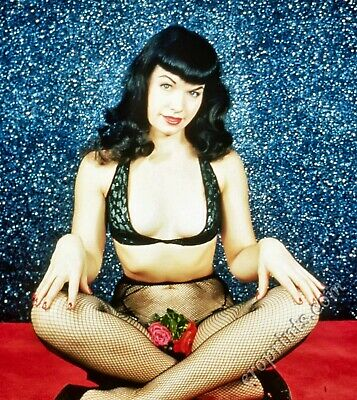 BETTIE PAGE Vintage Pin-up 8x10 Year 1955 /Metallic Finish Photo Print 8x10 Nr 7