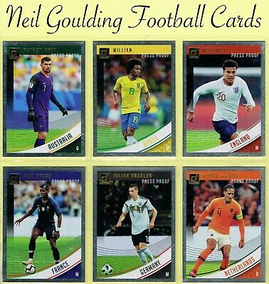 DONRUSS SOCCER 2018-2019 ☆ PRESS PROOF - SILVER PARALLEL ☆ Cards #88 to #175