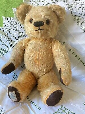 Vintage Chad Valley Mohair Jointed Teddy Bear, C 1950