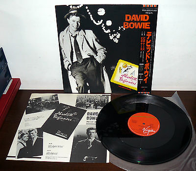 """David Bowie 12"""" Lp Absolute Beginners ( Dub Mix ) Full Lenght Version Japan 1985"""