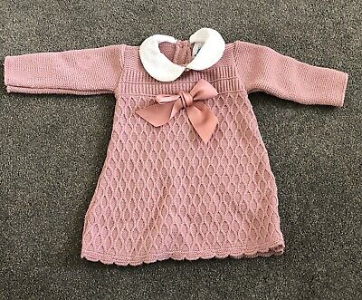 5b0bfe094 BABY GIRL DRESS Spanish style knitted BOW - £13.99   PicClick UK