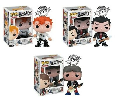 Funko Pop! Rock Sex Pistols Set Rare 3 Figures Vaulted See!!! Toys Rock N' Roll