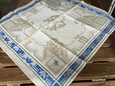 Art Deco Leinen Damast Geschirrtuch/Set  um 1925,Art Deco LinenTowel