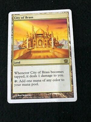 City of Brass Magic the Gathering 8th Edition Rare Trading Card
