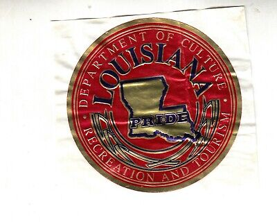 RARE VINTAGE Department Culture Recreation Tourism Louisiana/State Sticker LOOK