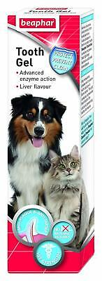 Beaphar Tooth Gel for Cats & Dogs - No Brushing Required Dental Paste Oral Care