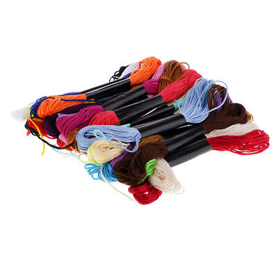 Lots 24 Cotton Cross Floss Stitch Thread Embroidery Sewing Skeins MultiColor