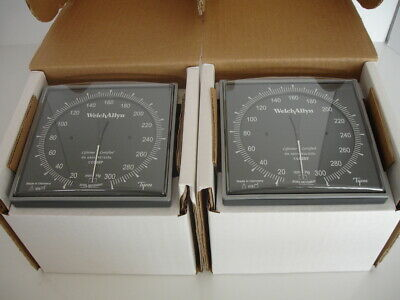 Lot Of Two, New Welch Allyn 5091-38 Wall Gage With Adult Cuff