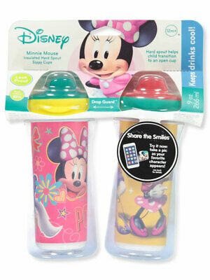 Disney Minnie Mouse 2-Pack Insulated Sippy Cups (9 oz.)