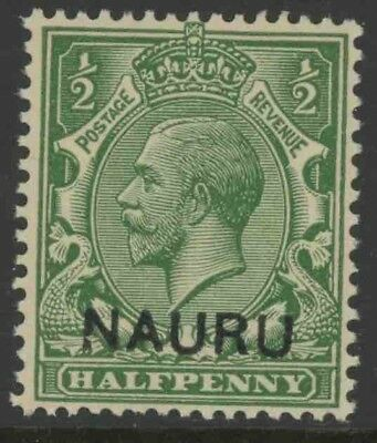 "Nauru, Mint #1, ""Broken N"",  Og Nh, Great Centering"