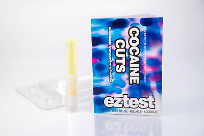 EZTest Cocaine Cut Tester Drug Testing Kit, Tests for Purity Accurate Lab Test