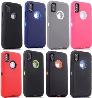Lot 6-Pack Protective Defender Case for Apple iPhone 5 6s 7 8 Plus XR Wholesale