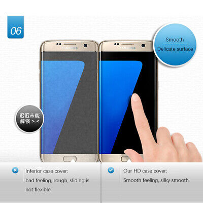 4H HD Ultra Thin Clear Full Cover Curved Screen Protector For Samsung Galaxy S7