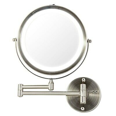 """Rucci Wall Mount LED Lighted Mirror 10x/1x Magnification,8.75"""" M1001"""