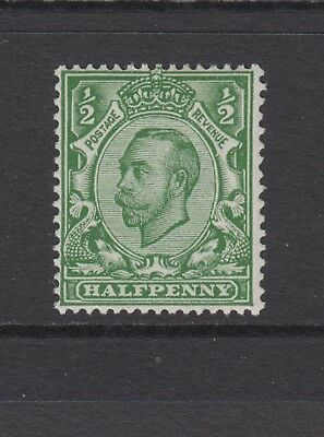 GB KGV 1/2d Green SG344 George V 1912 Mint Hinged Downey Stamp