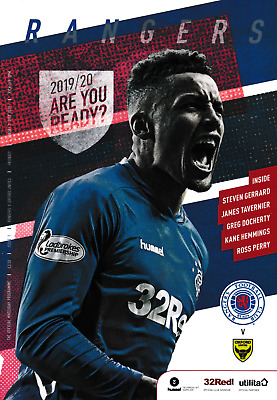 Cowdenbeath v Rangers 2018/19 brand new football programme