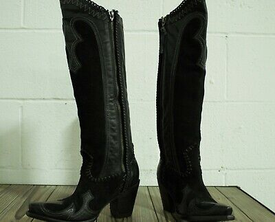 46c9cc09c4298 ... Free People Mystic Charms Silver Heel Boots ☮ Size 38 US 8.