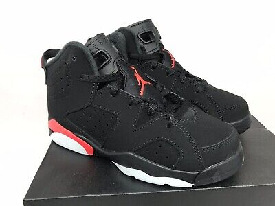 e6bfc3da260 NIKE JORDAN 6 Retro PS Preschool Kids Size 13C Black Infrared 384666 060