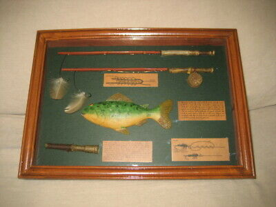 Reduced. Small Diorama. History Of Flyfishing Of Rainbow Trout. Pos Home-Made?
