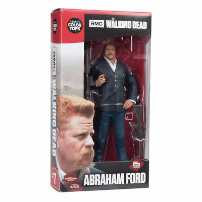 "Walking Dead Color Tops 7"" Abraham Ford Mcfarlane Juguetes AMC Zombi TV Series"