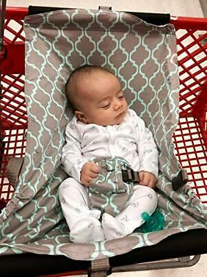 Baby Shopping Cart Hammock, Cart Cover for Newborn,Toddler Twins, Grey New