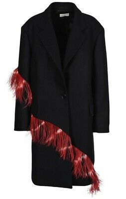 20ddd1a2b5 DRIES VAN NOTEN Feather-Accented Cocoon Coat- Size 34 - $450.00 ...