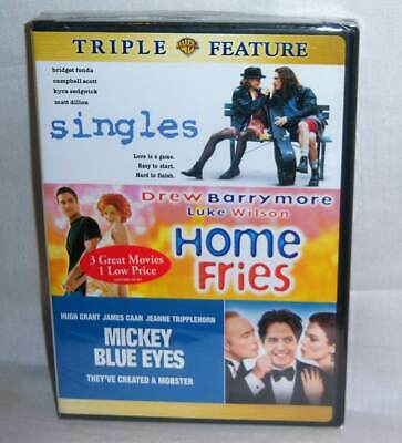 New Singles & Home Fries & Mickey Blue Eyes Comedy Triple Feature Movie Dvd Set