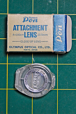 OLYMPUS PEN Original Close-Up Attachment Lens, With Box and Case, Vintage