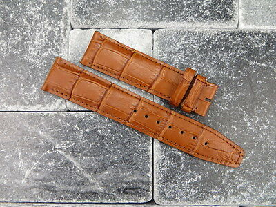 Pour Cuir Fait Aviation Marron Montre Bracelet Iwc De 22mm Pilot Big 0NOnvwm8