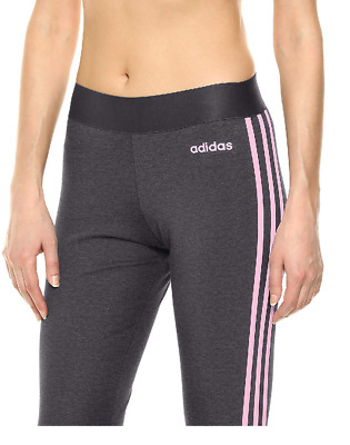 c1a7d7fdd64 ADIDAS WOMEN TIGHTS Essentials 3 Stripes Running Training Black Work ...