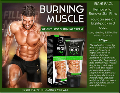 Men Slimming Cream Fat Burning Muscle Belly Stomach Weight Loss Tighten six pack