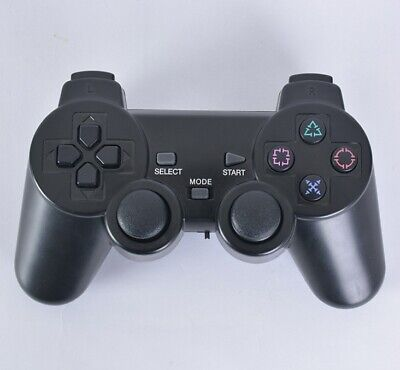 Black Wireless Shock Game Controller Joypad Pad for Sony PS2 Playstation 2 USA