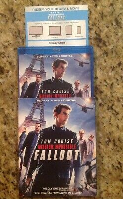 Mission: Impossible Fallout (Blu-ray/DVD, 2018) Authentic US Release
