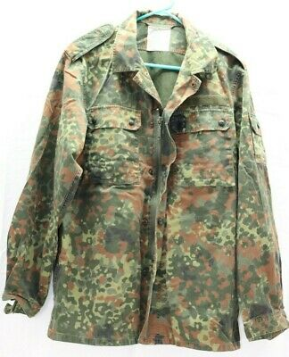 97dcee2cd2305 German flecktarn Shirt Jacket w zipper size100/gr8 23sl US Med no patches  E9277