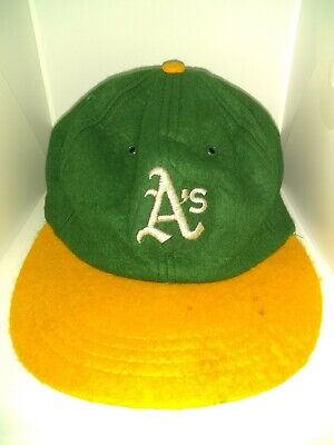 more photos 6b5d7 335b4 Vintage 60 s 70 s Mlb Oakland Athletics Fitted Wool Felt Baseball Hat Large  Rare