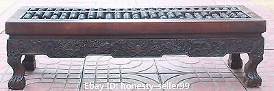75CM Chinese Huanghuali Yellow Pear Wood Ancient Dragon Abacus Desktop Top Table