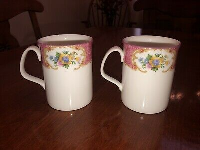 BRAND NEW! Royal Albert Lady Carlyle Bone China Made In England Tea Set 2 Mugs