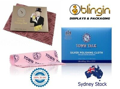 Gold N Silver Town Talk Jewellery Cleaner  Cloths 12.5 x17.5cm-Jewelry cleaning!