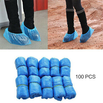 50 Pair Disposable overshoes, embossed blue shoe covers. Great value
