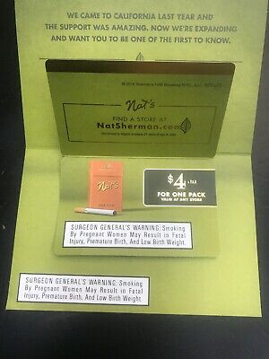 NAT SHERMAN CIGARETTES Coupon $3+Tax for 1 Pack Expires 3/31